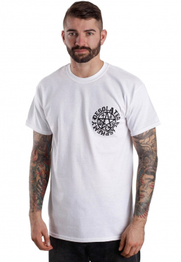 Desolated - Graff Blasphemy White - - T-Shirts