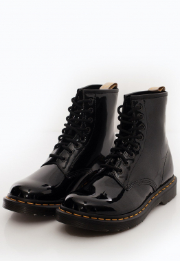 Dr. Martens - Vegan 1460 Black Opaline - Stiefel