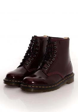 Dr. Martens - Vegan 1460 Cherry Red Oxford Rub Off Red - Stiefel