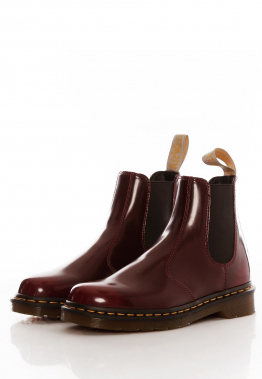 Dr. Martens - Vegan 2976 Chelsea Boots Cherry Red Oxford Rub Off - Stiefel