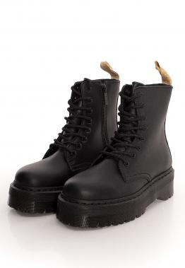 Dr. Martens - Vegan Jadon Ii Mono Black Felix Rub Off Black - Stiefel