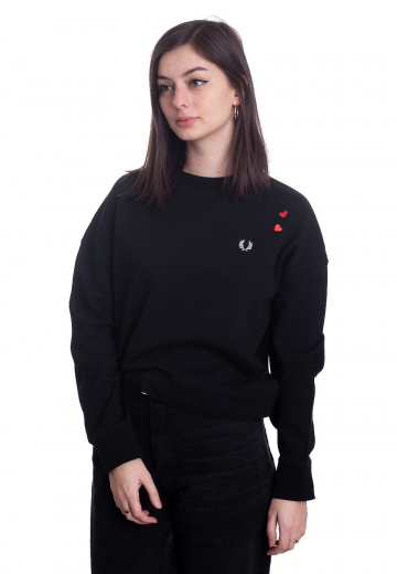 Fred Perry - Amy Heart Black - Sweater