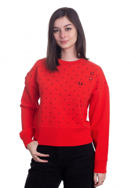 Fred Perry - Amy Polkadot Lipstick Red - Sweater