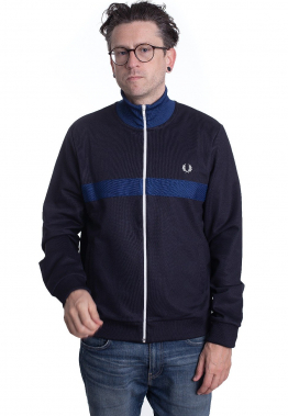Fred Perry - Chest Panel Track Navy - Jacken