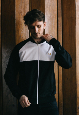 Fred Perry - Colour Block Track Black - Jacken