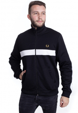 Fred Perry - Contrast Panel Track Black - Jacken