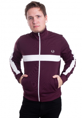 Fred Perry - Contrast Panel Track Mahogany - Jacken