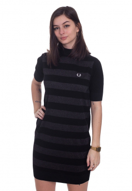 Fred Perry - Knitted Stripe Black - Kleider