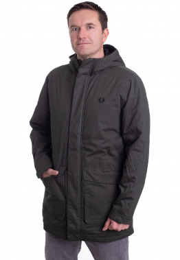 Fred Perry - Padded Hooded Hunting Green - Jacken