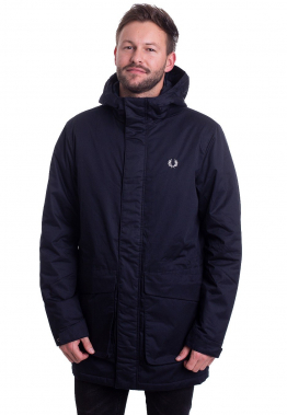 Fred Perry - Padded Hooded Navy - Jacken