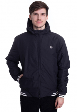 Fred Perry - Padded Hooded Sports Black - Jacken