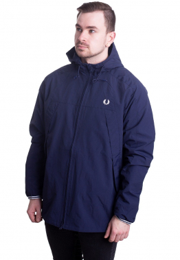 Fred Perry - Panelled Zip Through Carbon Blue - Jacken