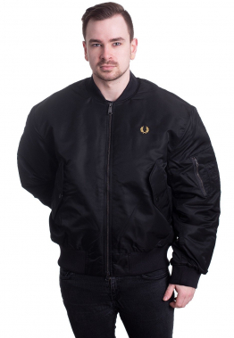 Fred Perry - Quilted Bomber Black - Jacken