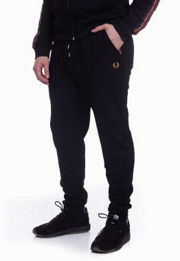 Fred Perry - Taped Track Black - Jogginghosen