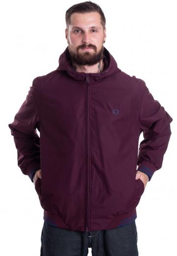 Fred Perry - Tipped Hooded Sports Mahogany - Jacken