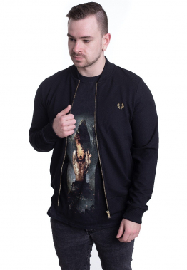 Fred Perry - Twill Track Black - Jacken