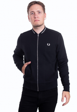 Fred Perry - Zip Through Black - Sweater