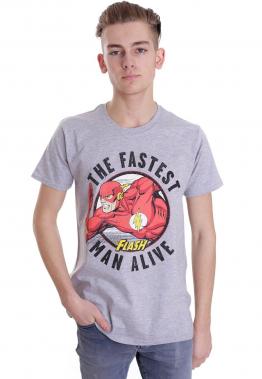 Justice League - Flash Fastest Man Alive Sportsgrey - - T-Shirts