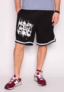 Heaven Shall Burn - Stacked Logo Striped Zip - Shorts