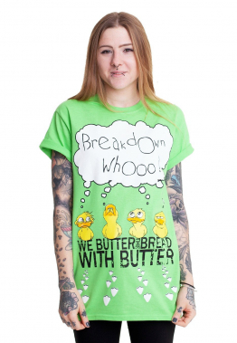 We Butter The Bread With Butter - Entchen Lime - - T-Shirts